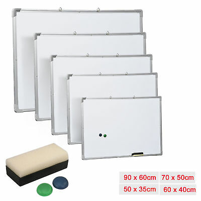 Magnetic Dry Wipe Whiteboard White with Magnetics and Duster for Office School