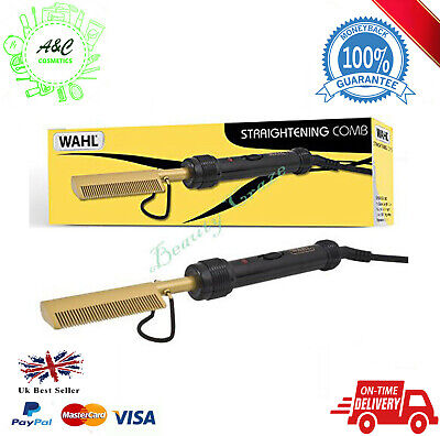 Wahl Afro Electric Hot Comb/Straightening Comb, Gold/Black