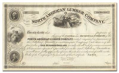North American Lumber Company Stock Certificate (Orono, Maine)