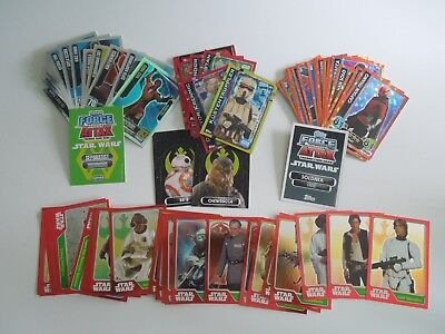 Topps Star Wars Force Attax   -  75 Insert Karten Lot Force Mesiter Limitierte