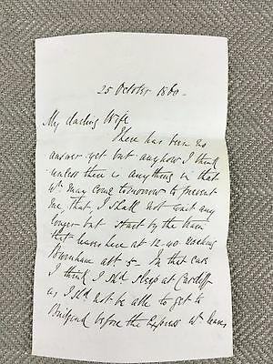 Victorian Love Letter Note Hand Written
