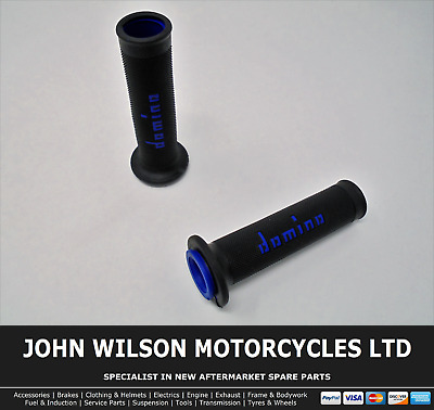 Honda XLR 125 R 1998 - 1999 Black Blue Domino Handle Bar Race Grips