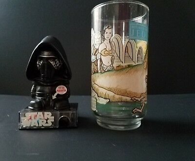 Leia Jabba Kylo 1983 Star Wars Return of the Jedi Burger King Coca Cola Glass