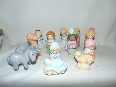 Avon Heavenly Blessings Nativity Collection Original Boxes Lot of 13 Figurines