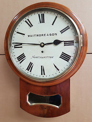 An Excellent Late 19th Century drop dial fusee clock by Whitmore of Northampton