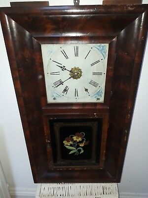 Antique American Wall Clock by Connecticut Clock Company