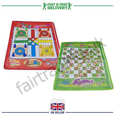 Travel Ludo Snakes and Ladders Traditional Board Game Kids Children Adult Family