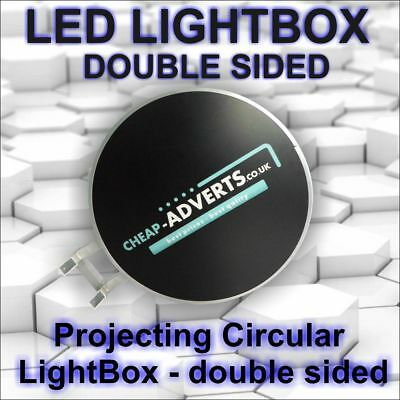 Double-Sided Outdoor Circular Illuminated Projecting  Light Box 800mm