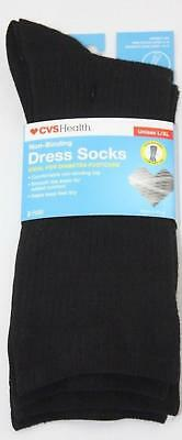 00f90ef99d 2 CVS HEALTH 1 Pair Black Over Compression Socks Size L/XL - $17.00 ...