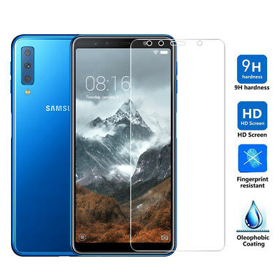 9H Premium Tempered Glass Screen Protector Guard For Samsung Galaxy A7 2018