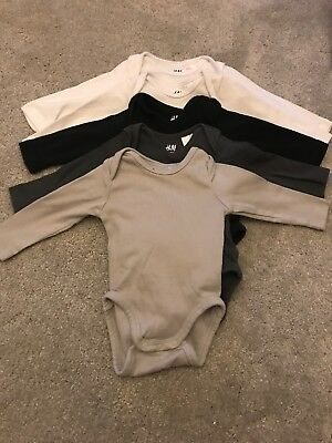 H&M Long Sleeve Baby Vests 1-2 Months