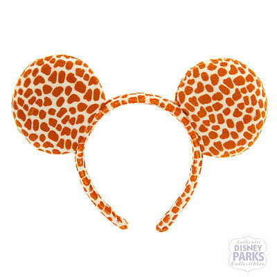 Authentic Disney Parks Minnie Mouse Ears Headband Giraffe Animal Kingdom