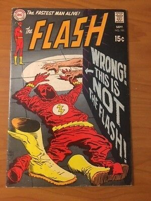 Flash #191, SA (1969) 15 cent Cover, from DC Comics!! See Pics!!