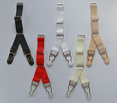 Replacement Suspender Clips Double Y-Strap garters corset stockings vintage