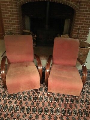 Pair Of Orignial Art Deco 1930s Armchairs