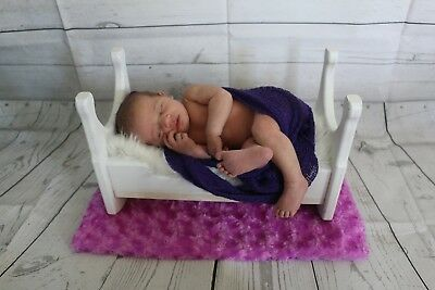 Photography props Newborn Photo Cradle Solid Wood Basket Bed