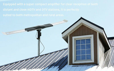 Outdoor TV Antenna DIGITAL Amplified Motorized Best for Long Range Mile HDTV