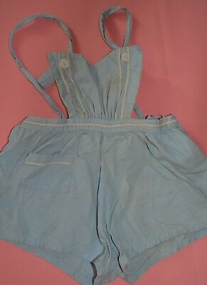 Vintage c 1950s Baby Toddler Girl Child Romper Sun Suit One Piece