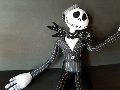"Disney Jack Skellington Nightmare before Christmas plush Poseable  24"" doll"