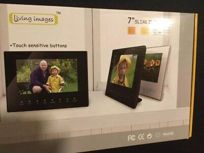 Living Images 7 Inch Digital Photo Frame In Black Great Christmas Gift Brand New
