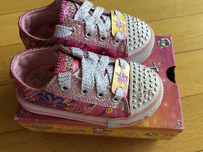 New Skechers Twinkle Toes Light Up Pink Size Girl's 6.5