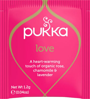 Pukka Herbal Organic Teas Tea Sachets - Love (20 Sachets)