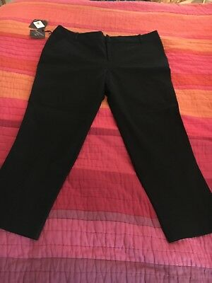 aa0bf88b6d55d Women's Plus Size 18W Black Ankle Pants Stretch Ava Viv New With Tags Target