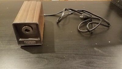 Vintage Panasonic KP-77 Auto Stop Electric Pencil Sharpener Faux Woodgrain Japan