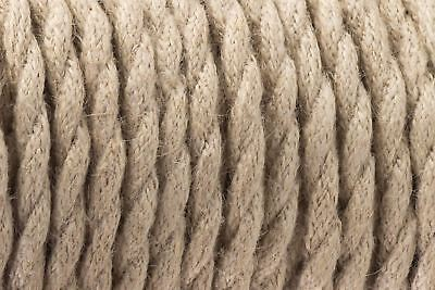 Vintage 3 Core Light Rope 0.75mm Flexible Cable - Braided Twisted Lighting Cord
