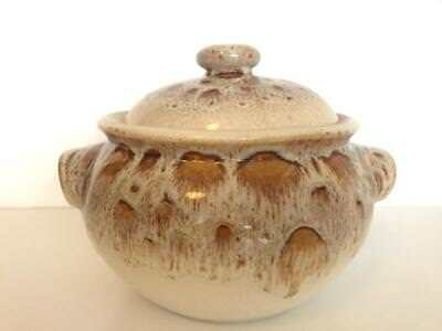 Vintage Fosters Cornwall Pottery Light Honeycomb Round Lidded Casserole Blonde