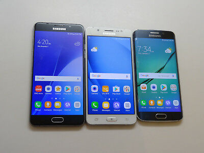 Lot of 3 Samsung Galaxy Mixed Models GSM Unlocked Smartphones AS-IS GSM