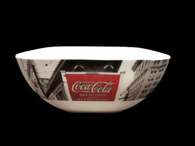 Coca-Cola Coke Noir Melamine Melacore Soft Square Bowls  - Set of 4
