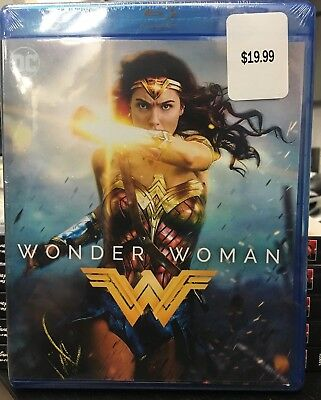 NEW!!! Wonder Woman (Blu-ray/DVD/Digital HD Set, 2017) No Slipcover