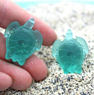 Sea Glass Turtle Knobs - Cabinets Knobs, Cabinet Pulls, Drawer Knobs