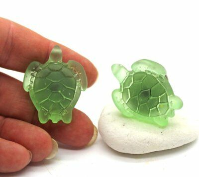 GREEN Sea Glass Turtle Knobs - Cabinets Knobs, Cabinet Pulls, Drawer Knobs