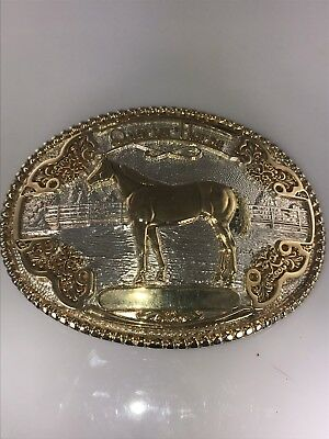 Silversmith Collection Handmade & Engraved Quarter Horse Weastern Belt Buckle