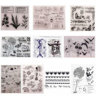 DIY Transparent Silicone Clear Stamp Cling Seal Scrapbook EmbossingDE