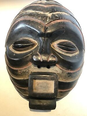"Vintage Large African mask - 14 1/2"" - D.R. Congo, TRIBAL ART"