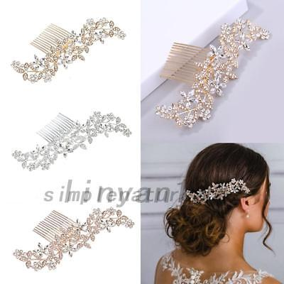 Wedding Rhinestone Hair Pins Clips Bridal Crystal Insert Hair Accessories AU