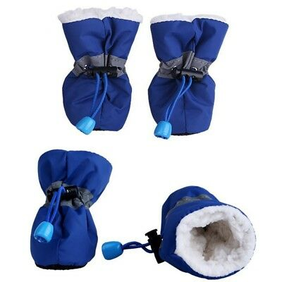 Winter Small Dog Boots Anti-Slip Puppy Shoes Pet Protective Rain Snow Booties