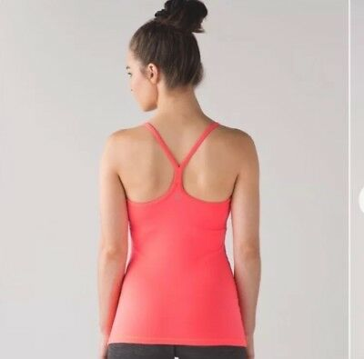 0b97b5ad30d Lululemon Power Y Tank Top Pink Workout Athletic Gym Yoga Running Women's  Size 6