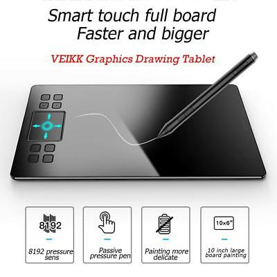 VEIKK A50 Graphics Tablet USB Art Drawing Tablet Stylus Pen for Windows Mac AU