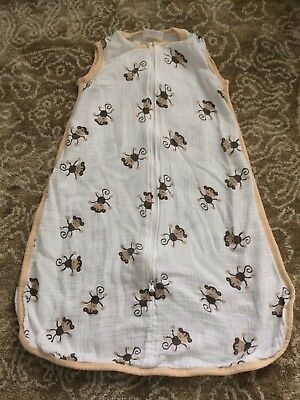 Aden and Anais Small baby wearable blanket vest 0-6 months monkey print