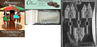 Cybrtrayd 'Castle Lolly Kids' Chocolate Candy Mould with Chocolatier's Bundle