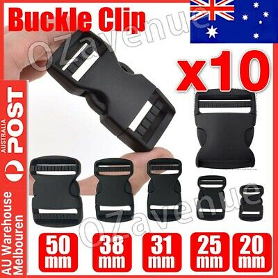 10PCS Plastic Quick Side Release buckles Webbing Strapping Buckle Clips Ddjuster