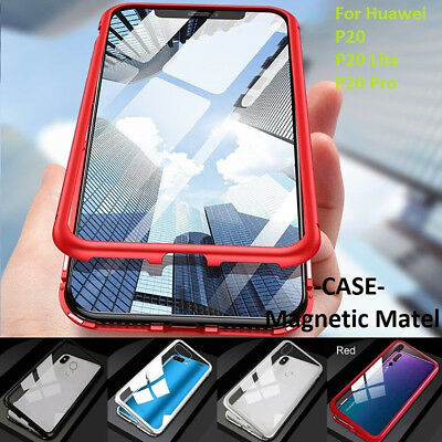 Luxury Tempered Glass Cover Magnetic Adsorption Metal Case For Huawei Mate 20