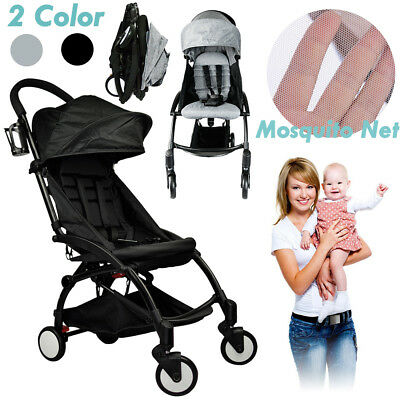 Baby Stroller Pram Compact Lightweight Pushchair Jogger Easy Fold Carry-on Plane