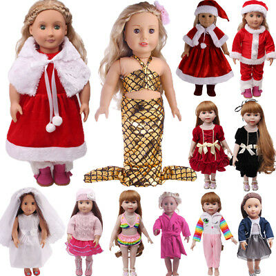US Doll Clothes Dress Outfits Pajames For 18 inch Xmas Girl Our Generation