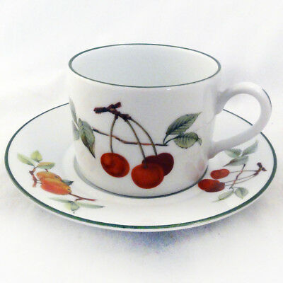 EVESHAM  VALE by Royal Worcester Cup & Saucer CAN SHAPE NEW NEVER USED England