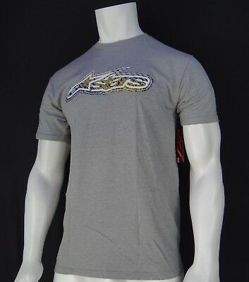 New Ralp-58 Alpinestars Racing Team Road Rash Gray Mens Short Sleeve T-Shirt